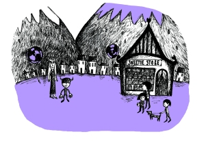 Illustration for story written by children for Bristol Story Lab