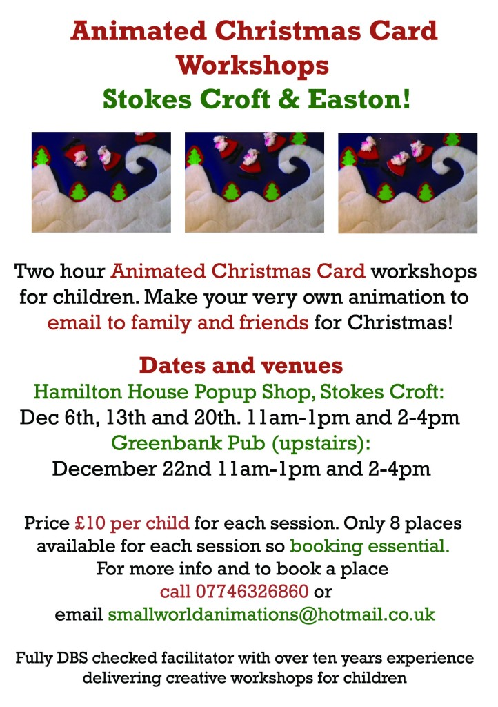animated xmas flyer