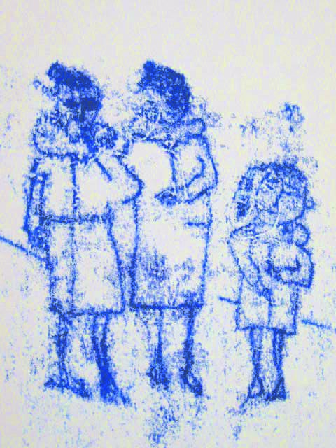 stokes croft monoprint - girls