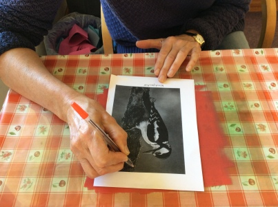 Monoprinting Workshop in a surgery waiting room