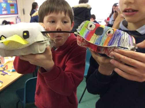 eggbox puppets