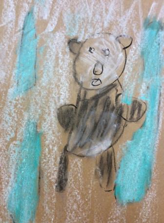 Panda Bear and bamboo