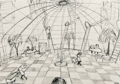 The Imaginary Library - Concept drawing